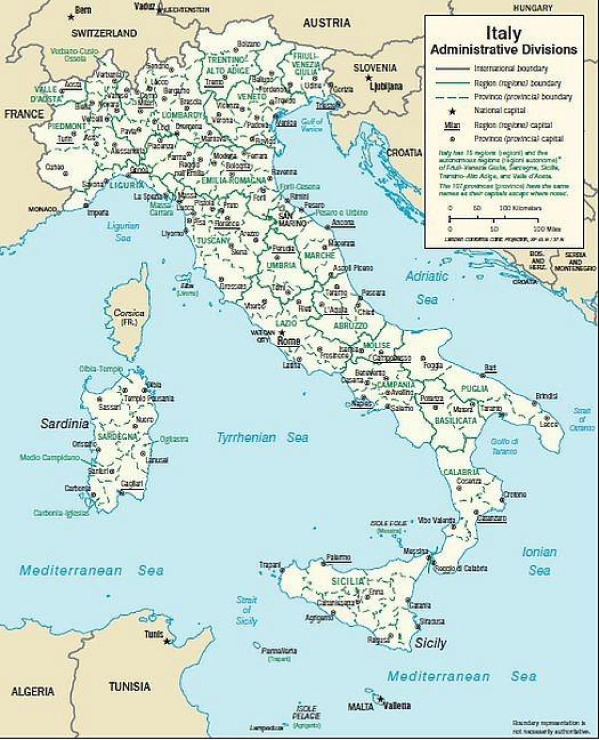地图上的意大利南部城镇图的意大利南部城镇 南部欧洲 欧洲